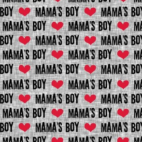 Mama's boy - valentines day fabric (grey) C19BS