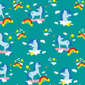 Mustache horses ♥️ rainbows