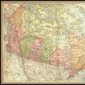 Canada vintage map - extra large