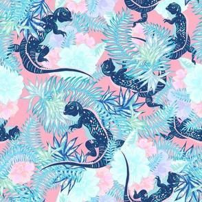 Tropical Iguana Pink