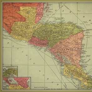 Central America vintage map - extra large
