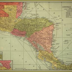 Central America vintage map - large