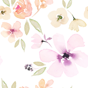 JUMBO watercolour floral muted pretty flower wallpaper floral