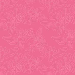rosy moth swarm