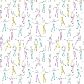 Dancing Boys in Pastel