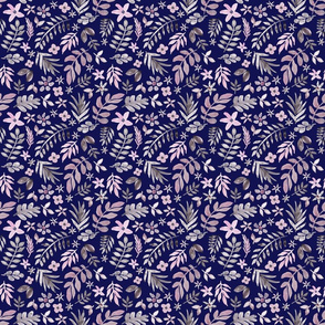 Soft Floral Blue Ground (Tiny Scale)