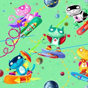 Wonderful Cat Games (green)