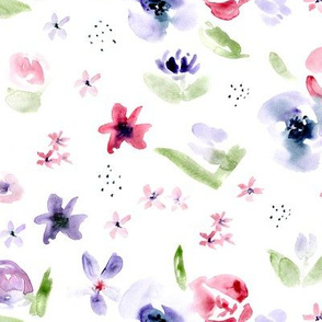 Tender bloom • watercolor florals