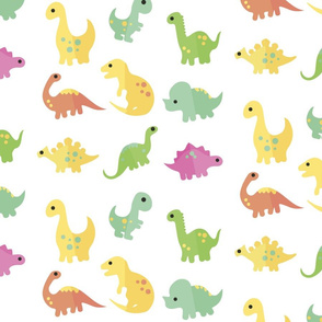 vector dinosaurs pattern design for textile printing_ transparent background