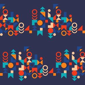 Unisex colorful geometric shapes Fabric