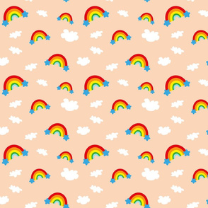 Rainbows and Clouds - cream