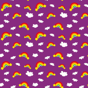 Rainbows and Clouds - purple