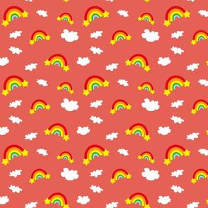Rainbows and Clouds - orange