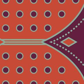 Art Deco Border Red-01
