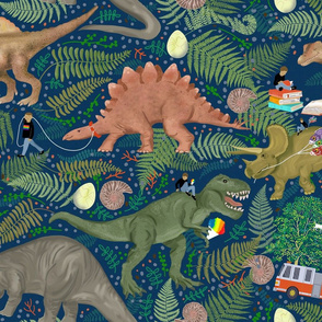 Paleontology Pals Blue background