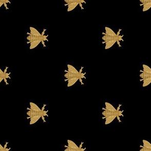 Napoleonic Bees ~ Gilt on Black ~ Rotated