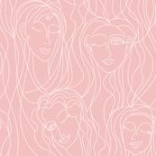 Winking Ladies (Powder Pink)