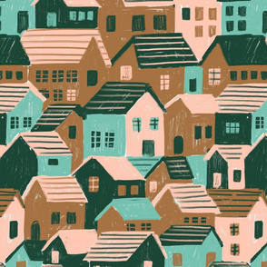 Houses and little houses.