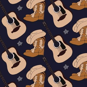 Country Guitar Boots Hat