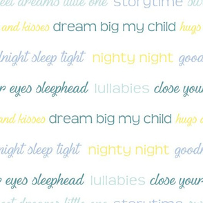 Vector Good Night phrases text pattern