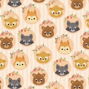 Cute woodland animals