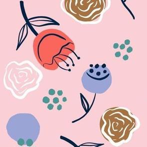 Minimalist modern nursery florals