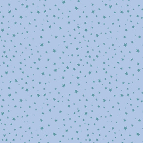 Vector Teal Stars on Blue Background pattern