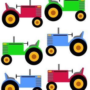 Farm Tractor Green Red Blue Baby Nursery