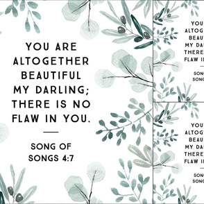 1 blanket + 2 loveys: you are altogether beautiful my darling // eucalyptus
