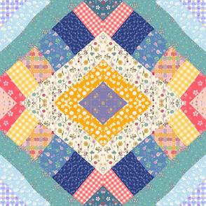Diamond Crazy Quilt 1