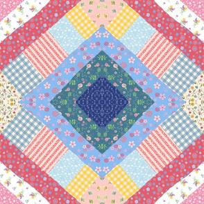 Diamond Crazy Quilt 2