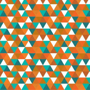 "1/2"" teal + orange triangles"