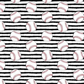 baseballs - black stripes C19BS