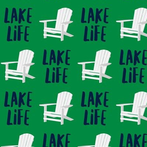 lake life - adirondack chair - green - LAD19