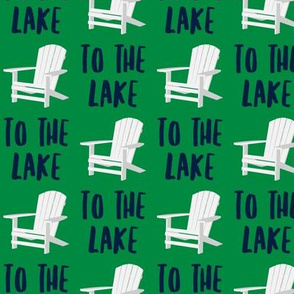 to the lake - adirondack chair - green - LAD19