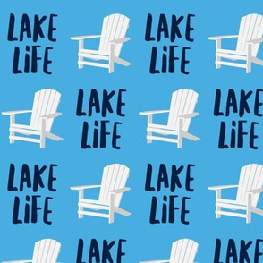 lake life - adirondack chair - blue and navy - LAD19