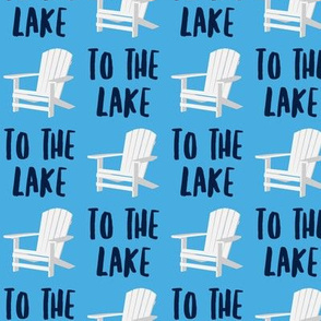 to the lake - adirondack chair - blue and navy - LAD19