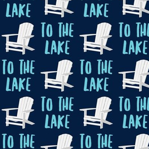 to the lake - adirondack chair - navy - LAD19