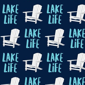 lake life - adirondack chair - navy - LAD19