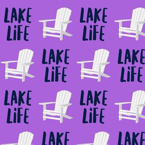 lake life - adirondack chair - purple - LAD19
