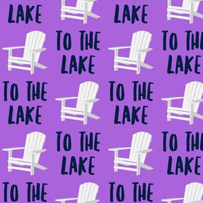 to the lake - adirondack chair - purple - LAD19