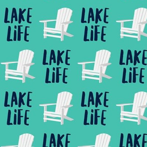 lake life - adirondack chair - teal - LAD19