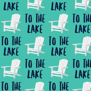 to the lake - adirondack chair - teal - LAD19