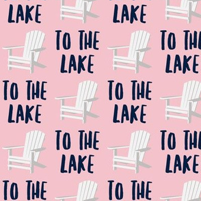 to the lake - adirondack chair - pink - LAD19