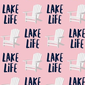 lake life - adirondack chair - pink - LAD19