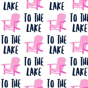 to the lake - adirondack chair - pink and blue - LAD19