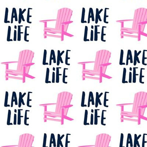lake life - adirondack chair - pink and blue - LAD19