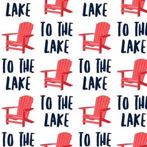 to the lake - adirondack chair - red and blue - LAD19