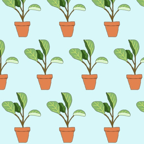 Potted Plant - blue