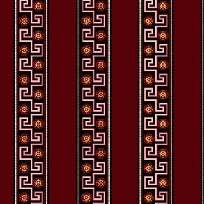Civil War Reproduction Fabric - Red Border